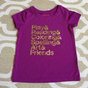 ✴️4/$15 Cat&Jack purple 5t t-shirt
